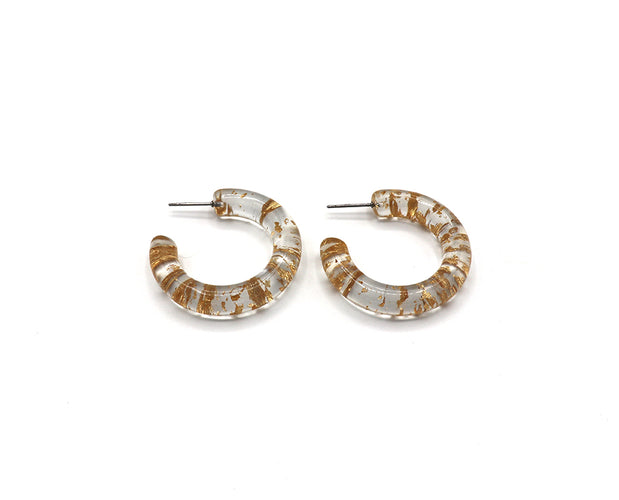 Chips of Gold Hoop Earrings