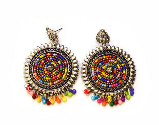 Scintillating Spirals Bohemian Earrings