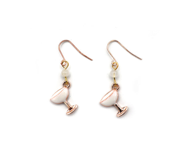 Glimmer and Gold Wineglass Earring