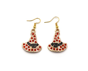 Orange Witch's Hat Earrings Sales