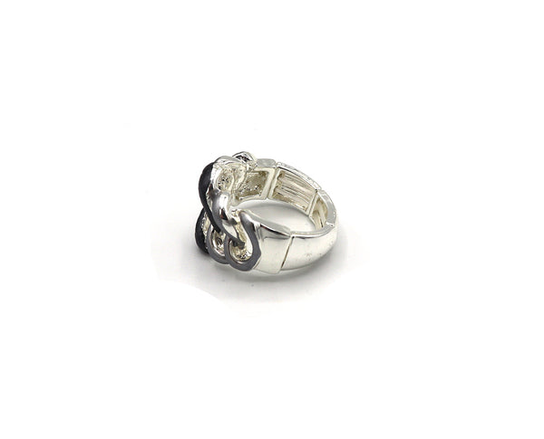 Intertwining Ovals Ring
