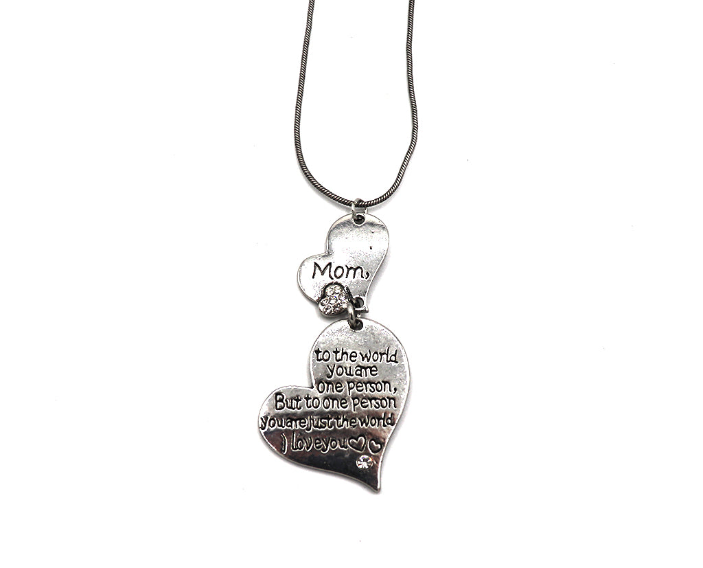 Mother Heart Engraved Necklace Sales