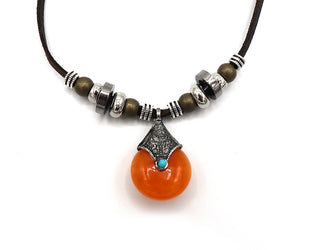 Ethnic Teardrop Necklace