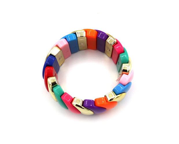 Colorful Layered Stretch Bracelet