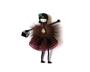 Fashionably Fury Doll Pin