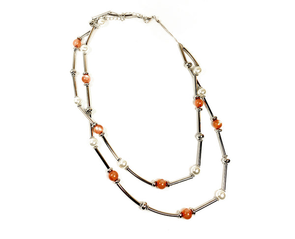 Crystal beaded Double String Necklace