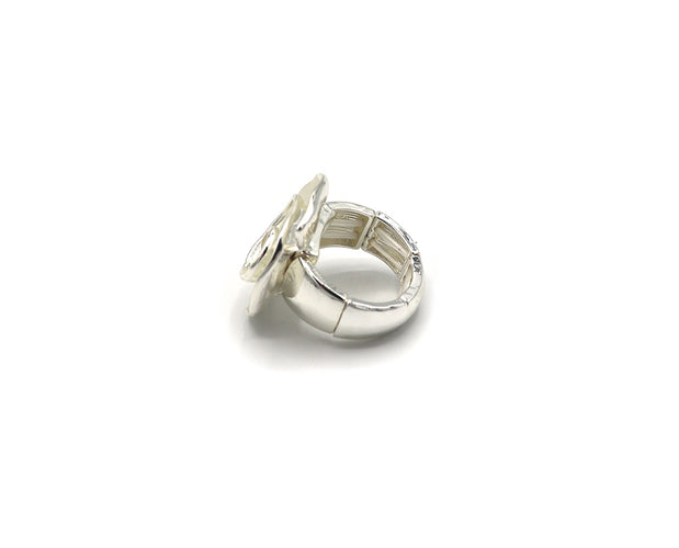 Silvery Spiral Ring