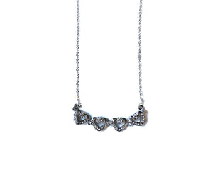 Four Heart Magnet Necklace
