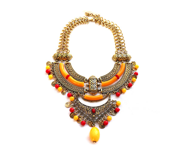 Tibetan Bronze Statement Necklace