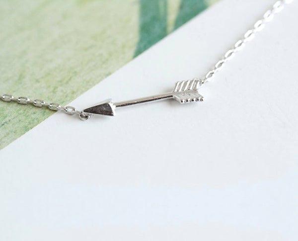 Sterling Striking Arrow Necklace