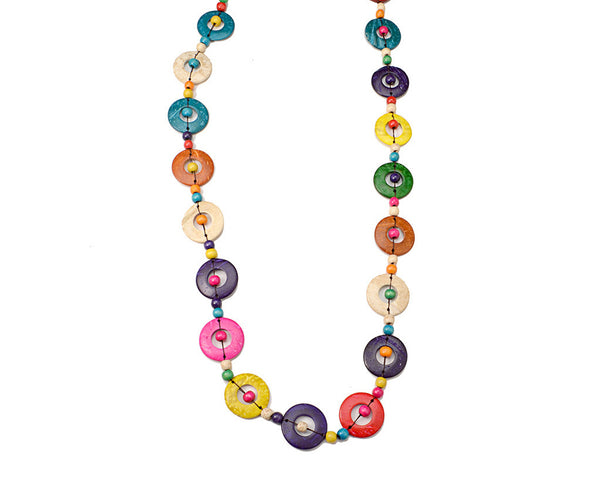 Multicolor Circle Necklace