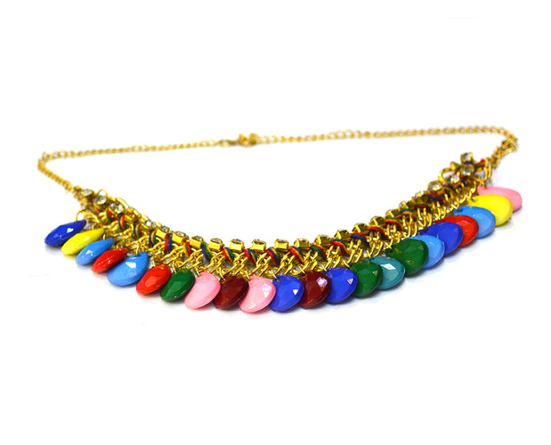Brilliant Tear Drop Boho Necklace