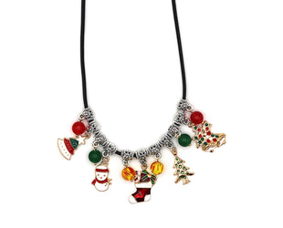 Colorful Holiday Charm Necklace