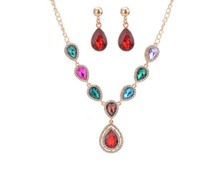 Embellished Tear Drop Styled Necklace