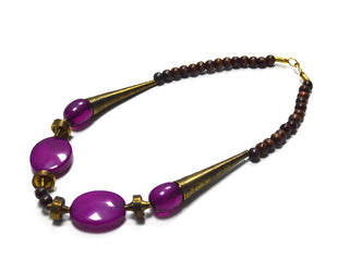 Dramatic Purple Bohemian Necklace