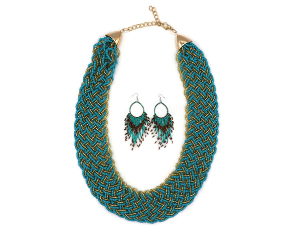 Tantalizing Two Toned Necklace Set