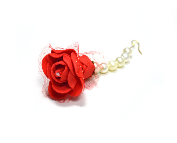 Flowers and Pearls Necklace Set with Bracelets
