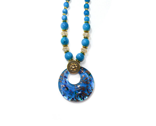 Long Elaborate Pendant Necklace