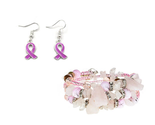 Pink Ribbons and Stones