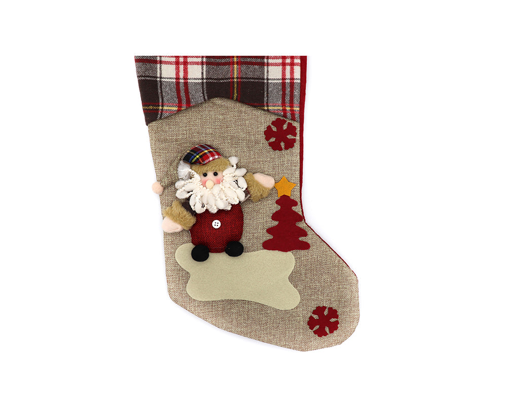 3D Hung With Care Christmas Stockings