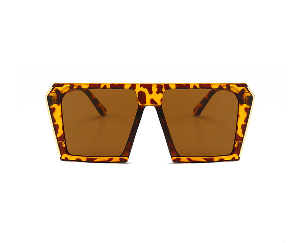 Colorful Trapezoidal Sunglasses