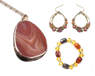 Amber and Agate Boho Set