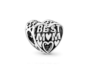 Silver Best Mom Charm