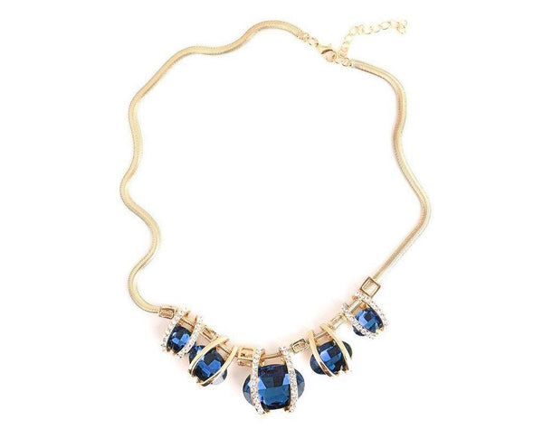 Aquamarine Gem Statement Necklace
