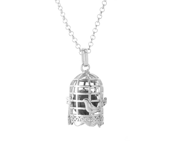 Bird Cage Essential Oil Necklace