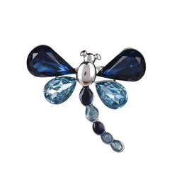Blue Buzz Dragonfly Pin