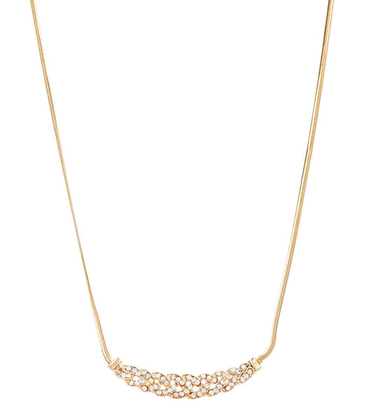 Crystal & Goldtone Interwoven With You Necklace