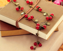 Exotic Red Bead Necklace