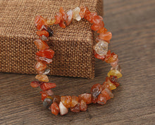 Cip-cut Natural Crystal Multicolored Bracelet