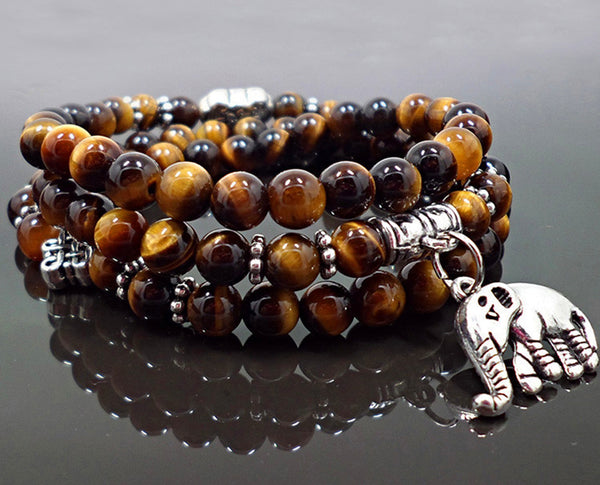 Tiger Eye Tri-layered Bracelet