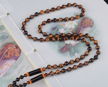 Micro Wooden Beaded Garland Necklace