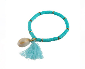Cotton Candy Tassel Bracelet