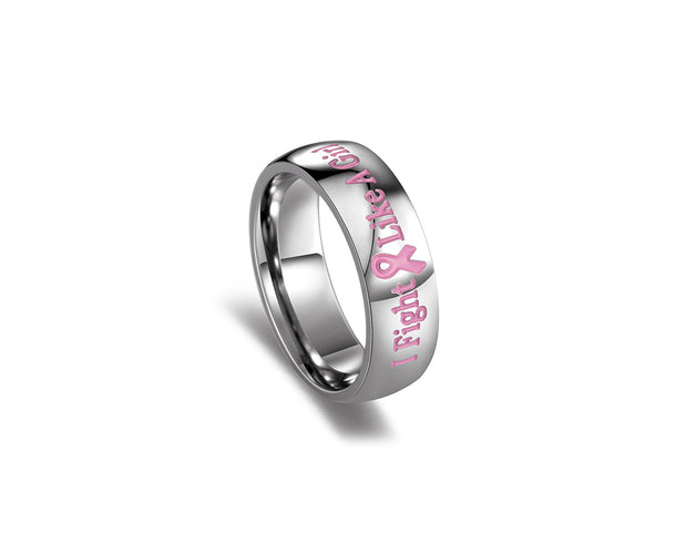 Resolute Pink Ribbon Ring