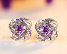 Purple Zircon Stud Earrings