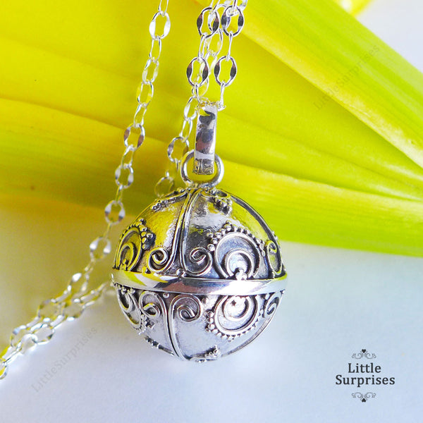 16mm Sunshine Harmony Ball Sterling Silver Chime Pendant LS86