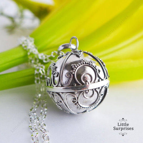 20mm Sunshine Harmony Ball Sterling Silver Chime Pendant LS86