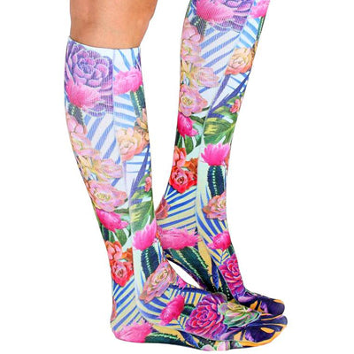 Neon Wild Knee High Socks