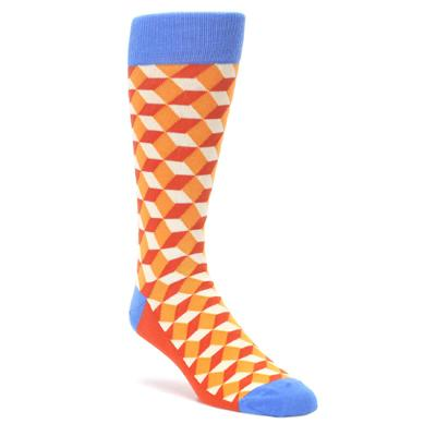 Orange Blue Beeline Optical Men's Dress Socks