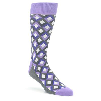 Purple Gray Jewel Optical Men's Dress Socks