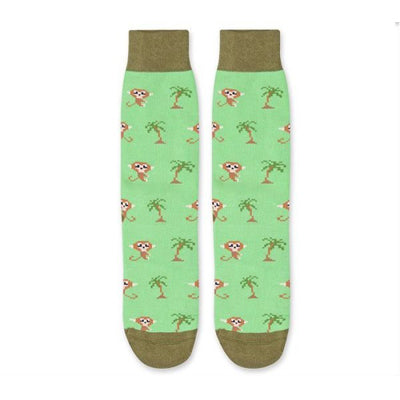 8 Bit Monkey Light Green