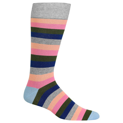 Men's Large Fun Stripe Crew Socks