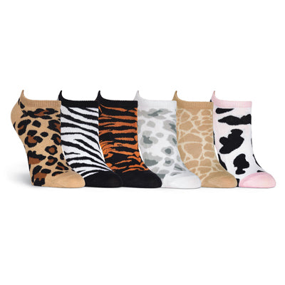 Women's Animal Prints 6 Pair Pack Socks