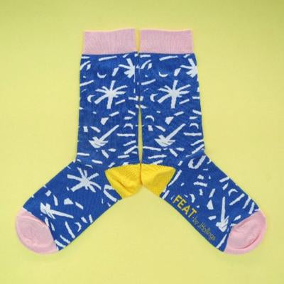 Men's Royal Dandelion Socks