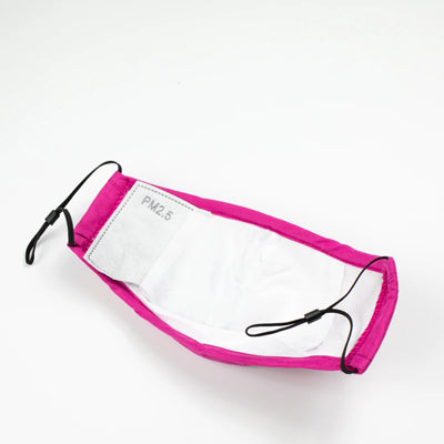 Dark Pink Face Mask with PM2.5 Filter