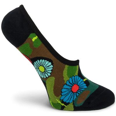 Flower Camo No Show Sock
