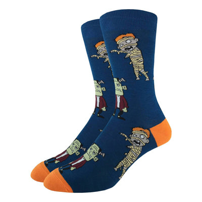 Frankenstein and Mummy Monster Socks